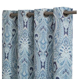 Teal Paisley Curtains