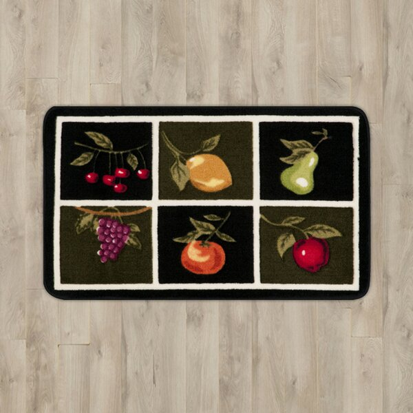 Poquonock Black/White Fruit Area Rug by Charlton Home
