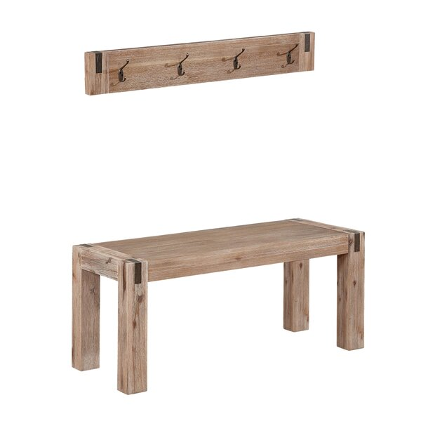 Henry Wood Bench by Gracie Oaks