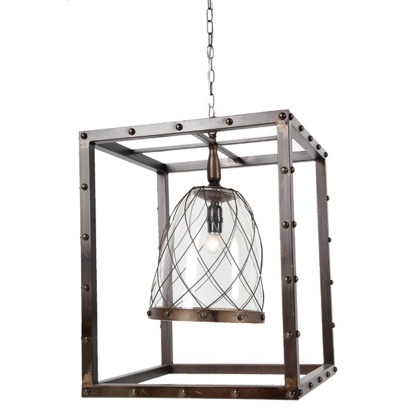 Pressley 1 - Light Lantern Rectangle Chandelier by 17 Stories 17 Stories