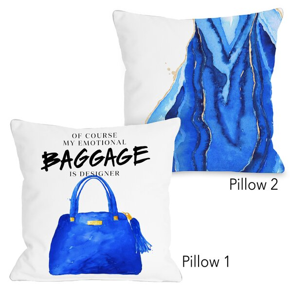 Denslowe Emotional Baggage and Bold Formations 2 Piece Throw Pillow Set by Mercer41