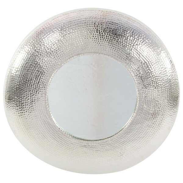 Enticing Aluminum Round Accent Wall Mirror by Rosecliff Heights