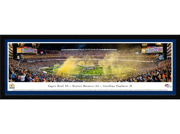 NFL Superbowl 2016 by Christopher Gjevre Framed Photographic Print by Blakeway Worldwide Panoramas, Inc