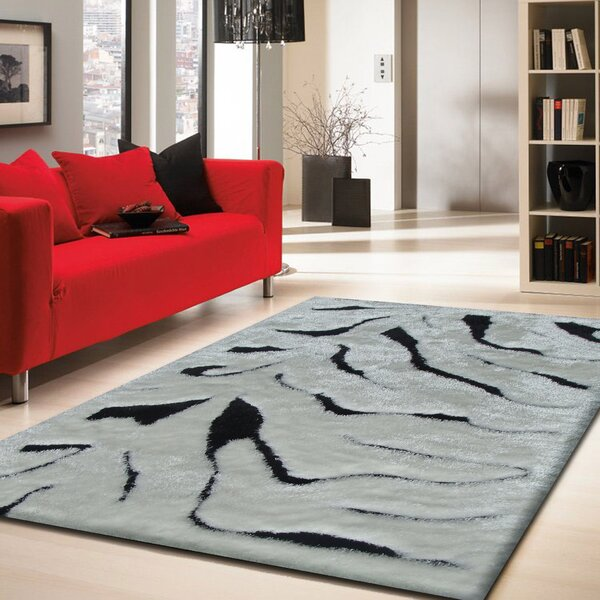 Hand-Tufted Black Area Rug by Rug Factory Plus