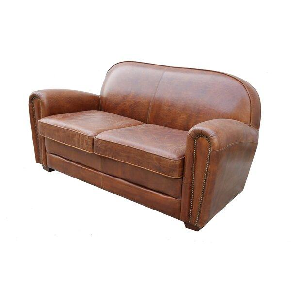Discount Paris Club Leather Loveseat