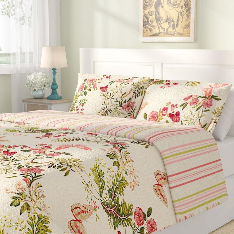 Lark Manor Annaelle Cotton Reversible Quilt Set & Reviews