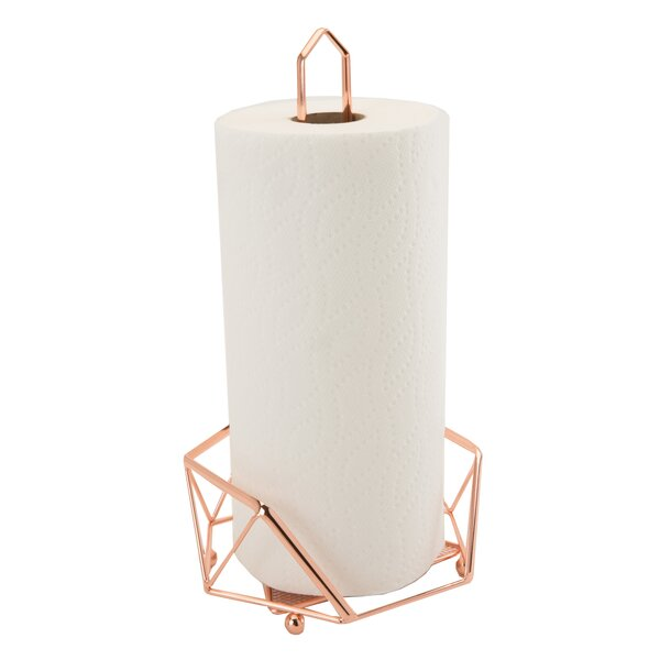 Geometric Paper Towel Holder by Mint Pantry