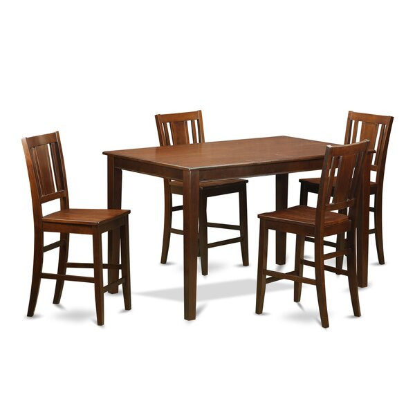 Sisneros Solid Wood Dining Set By Charlton Home