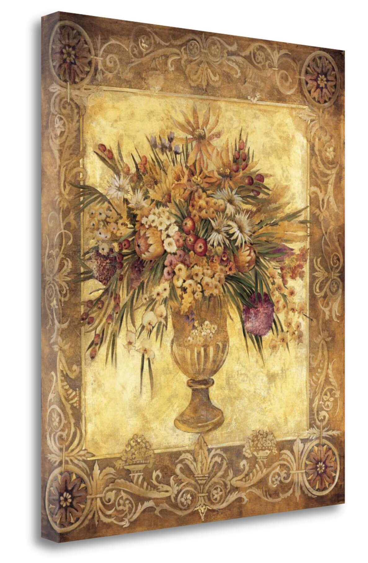 Tangletown Fine Art \'Tuscan Urn\' Graphic Art Print on Wrapped Canvas ...