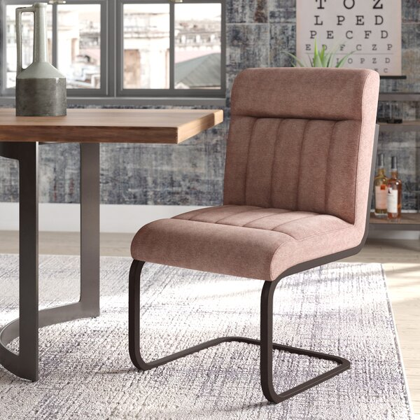Rabun Side Chair With Brown Upholstery by Trent Austin Design
