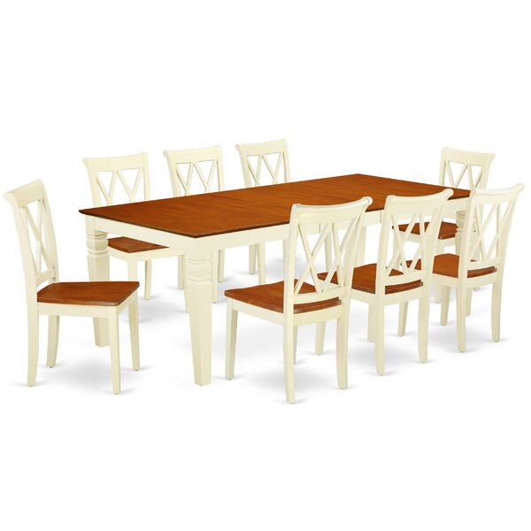 Labounty 9 Piece Extendable Solid Wood Dining Set by August Grove