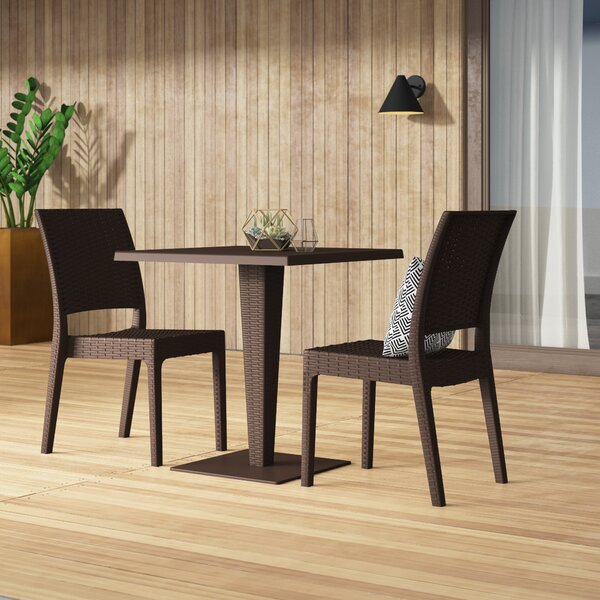 Jayne 3 Piece Bistro Set by Mercury Row