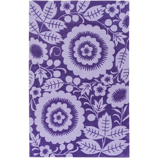 Gypsy Hand-Tufted Purple Area Rug by Harriet Bee