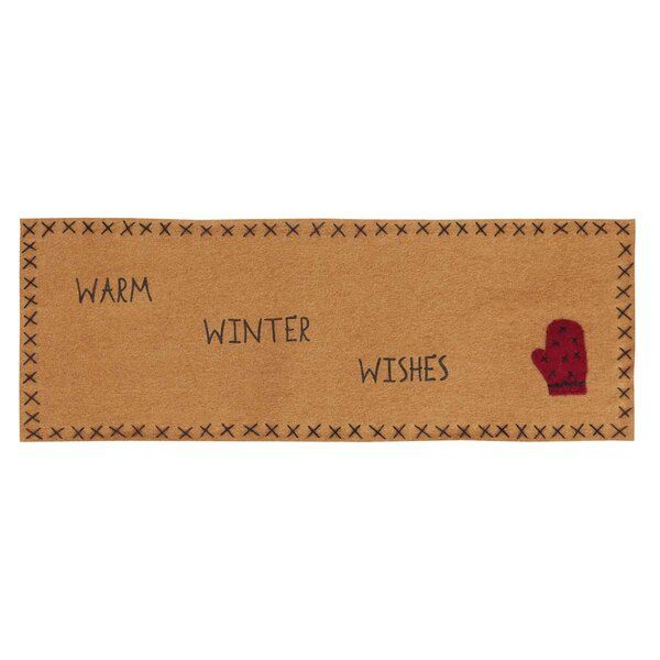 Warm Wishes Runner with Applique Mitten and Stencil Felt by The Holiday Aisle