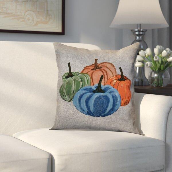 Miller Paper Mache Pumpkins Outdoor Throw Pillow by Alcott Hill