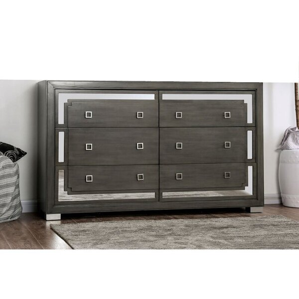 Aspacio 6 Drawer Double Dresser by Brayden Studio