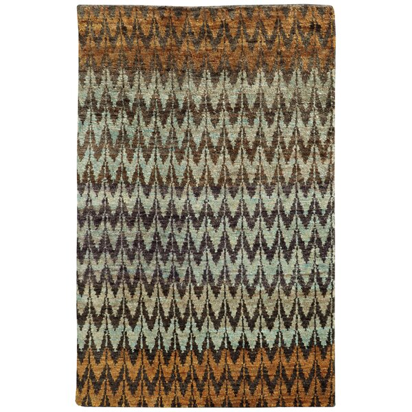 Tommy Bahama Ansley Brown / Blue Geometric Rug by Tommy Bahama Home