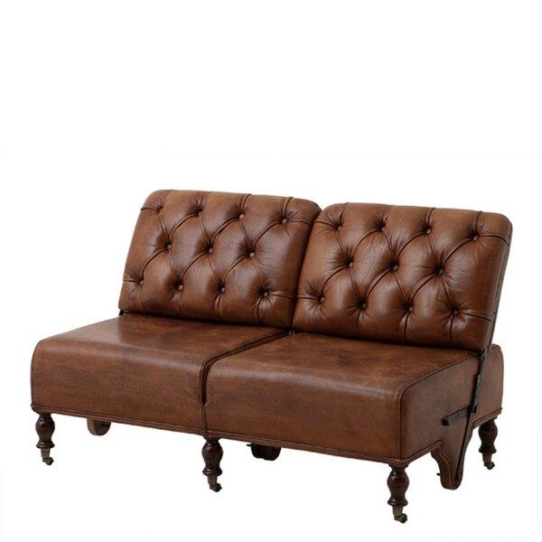 Tete Leather Reclining Loveseat