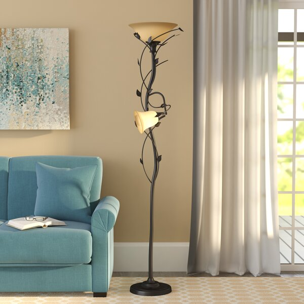 Crystal 72 LED Torchiere Floor Lamp by Alcott Hill