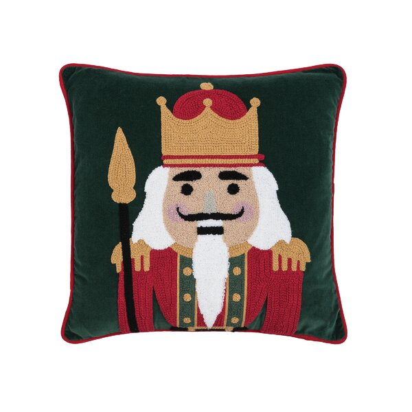 Mauldin Nutcracker King Throw Pillow by The Holiday Aisle