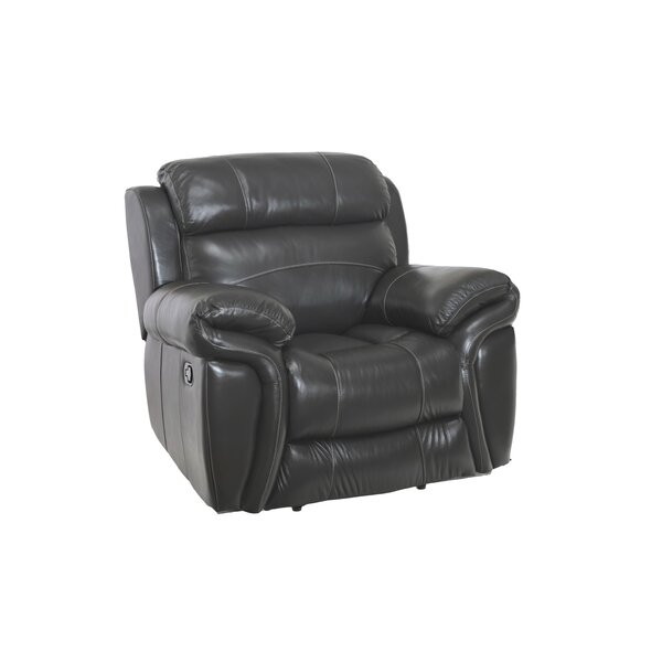 Gautier Leather Manual Recliner Red Barrel Studio W001654502