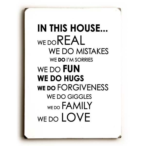 In This House Textual Art by Artehouse LLC