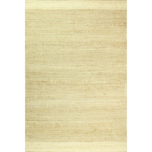 Hodge Hand-Knotted Cream Area Rug by Gracie Oaks