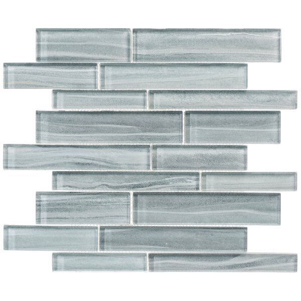 Hoem Straight Edge Glass Mosaic Floor Use Tile