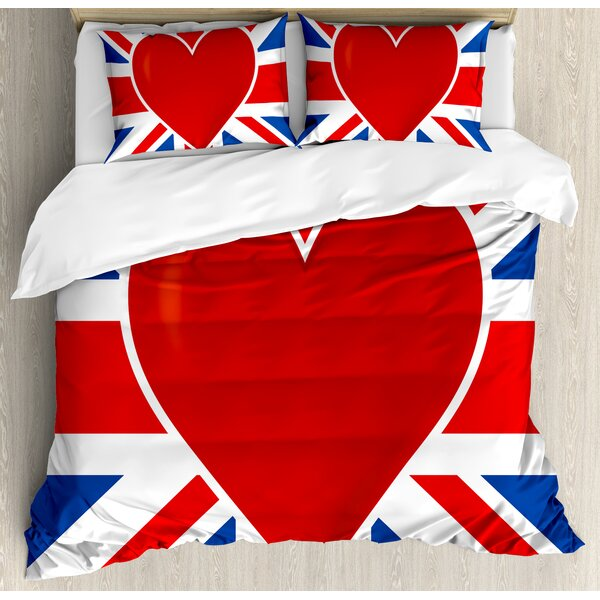 Union Jack Duvet Set by Ambesonne