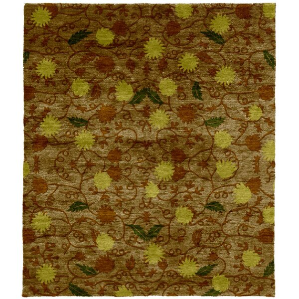 One-of-a-Kind Vernia Hand-Knotted Traditional Style Brown 12' x 18' Wool Area Rug