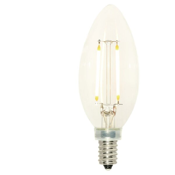 3W E12 Dimmable LED Edison Candle Light Bulb (Set of 6) by Westinghouse Lighting