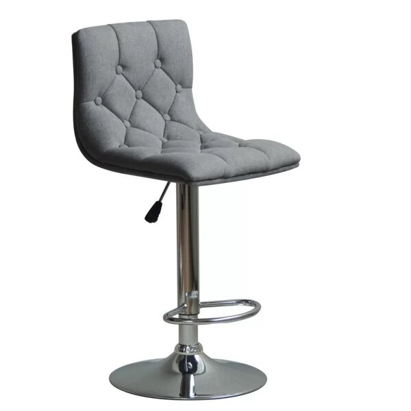Isaacs Adjustable Height Swivel Bar Stool by Orren Ellis