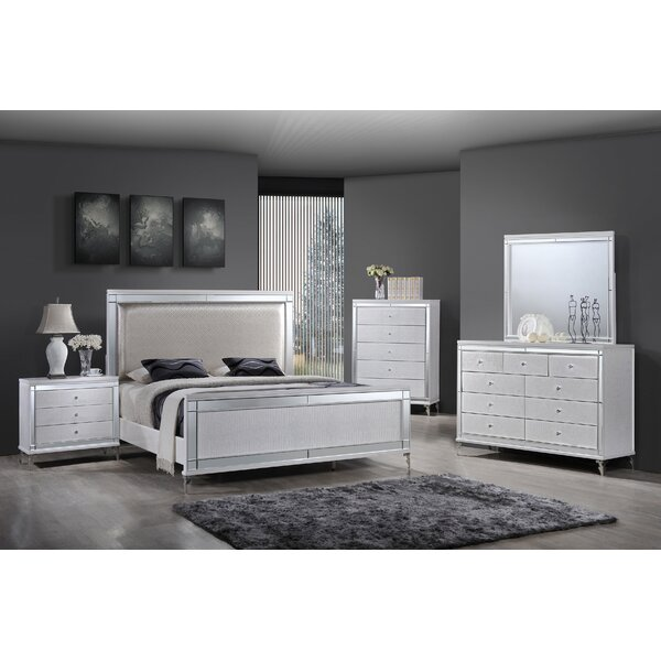 Panel 4 Piece Bedroom Set by Best Quality Furniture