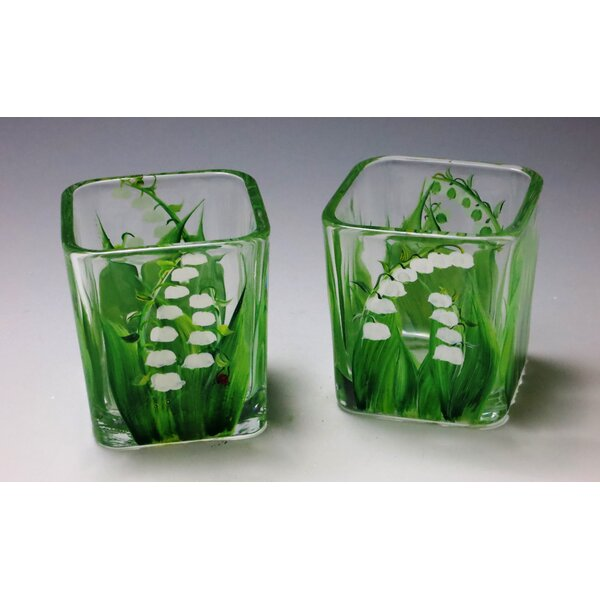 Hint of Spring Votive (Set of 2) by Christina's HAND PAINTED