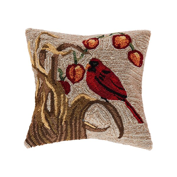 Treport Bird Indoor/Outdoor Throw Pillow by August Grove
