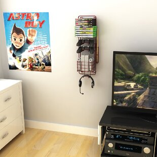 Game Multimedia Wall Mounted Storage Rack by Rebrilliant
