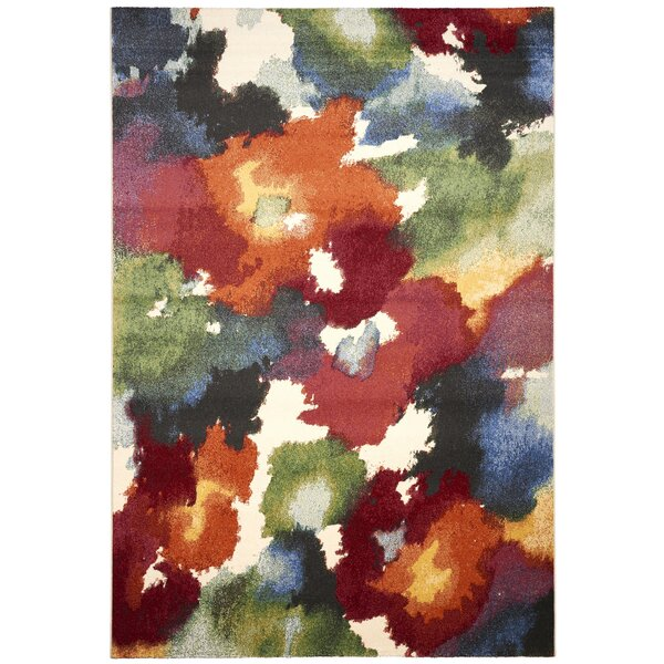 Martin Red/Green Area Rug by Ebern Designs