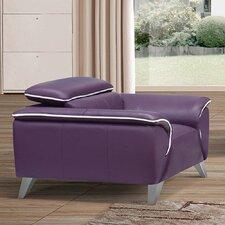 Purple Leather Armchair by Noci Design