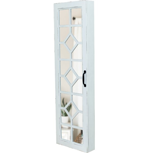 Kaniel Over The Door Jewelry Armoire with Mirror by August Grove