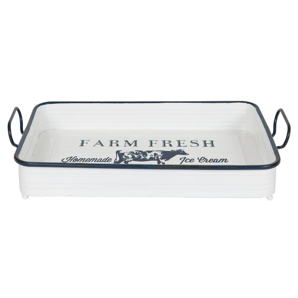 Salena Farm Fresh Decorative Rectangular Serving Accent Tray by Gracie Oaks