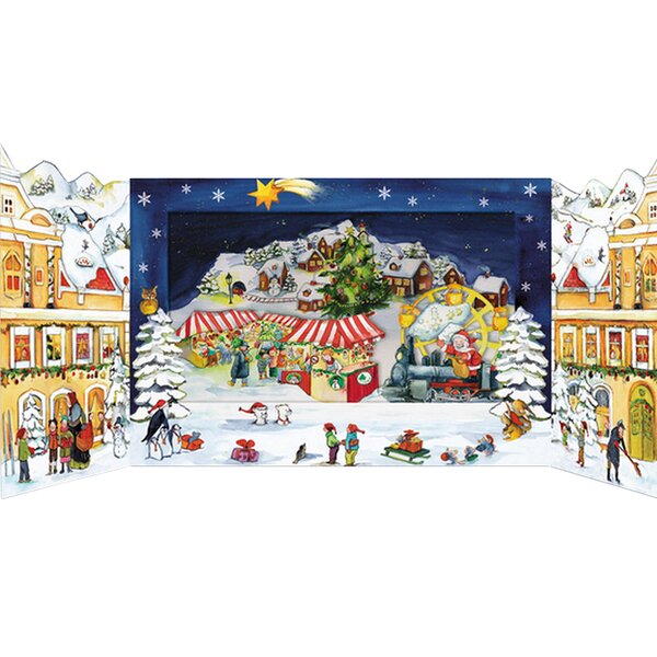 Korsch 3-D Christmas Market Advent Calendar by Alexander Taron