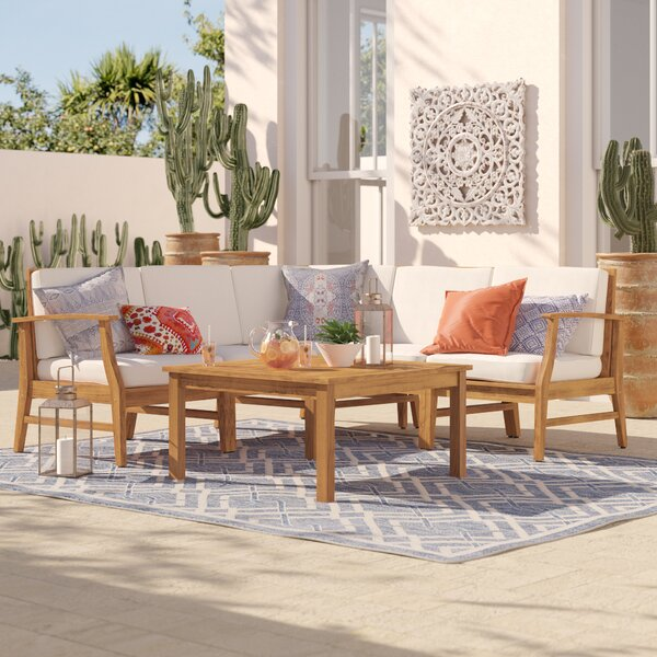 Antonia 6 Piece Sectional Set with Cushion by Mistana