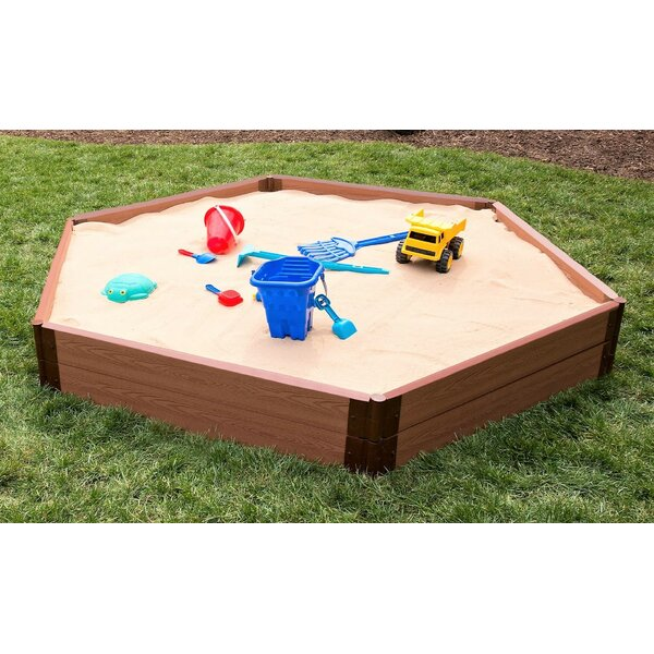 7 ft. Two Inch Series Hexagonal Sandbox by Frame It All