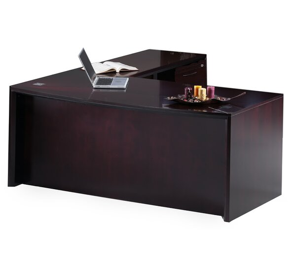 Corsica Series L-Shape Executive Desk by Mayline Group