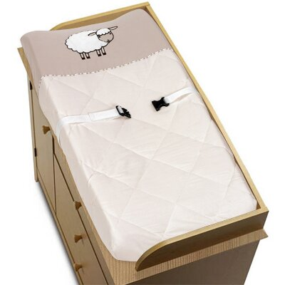 Little Lamb Changing Pad Cover By Sweet Jojo Designs.
