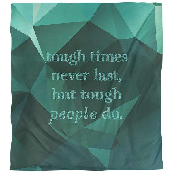 Tough Times Quote Single Duvet Cover
