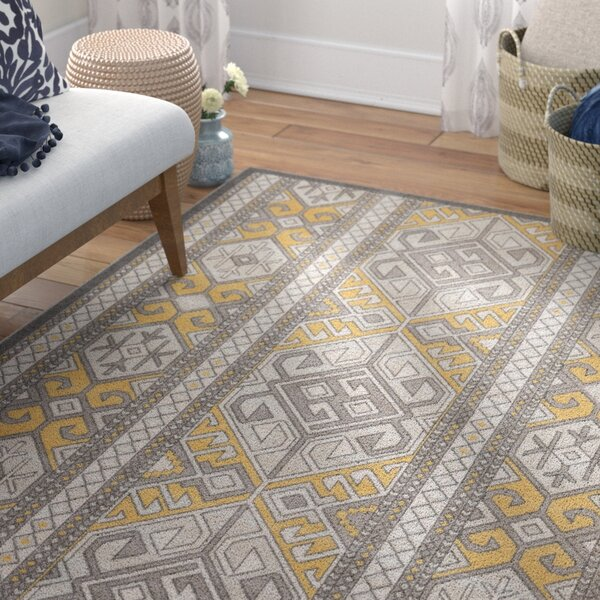 Braselton Brown/Gold Area Rug by Bungalow Rose