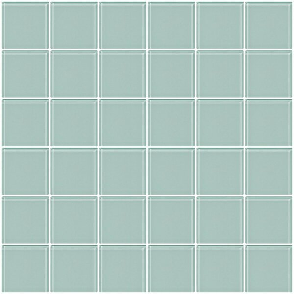 Bijou 22 2 x 2 Glass Mosaic Tile in Pale Aqua Blue by Susan Jablon