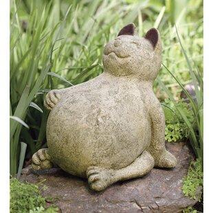 Genial Volcanic Ash Lucky Cat Statue