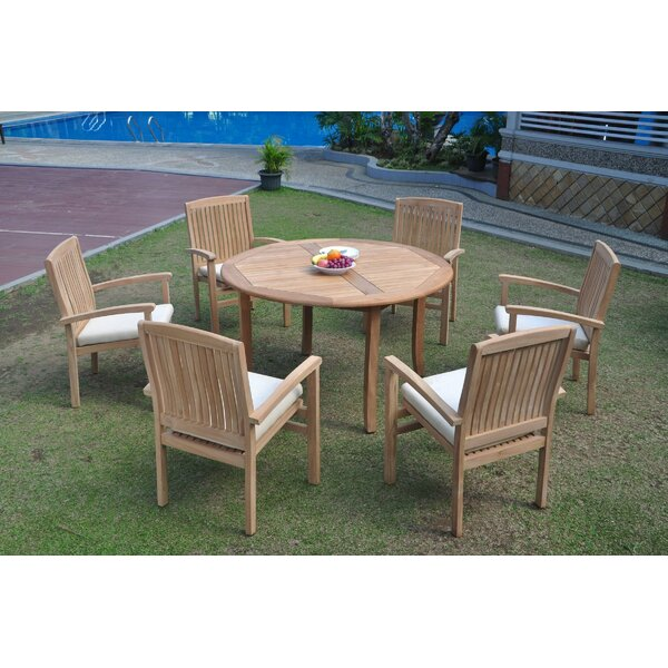 Sabrina 7 Piece Teak Dining Set by Rosecliff Heights
